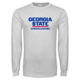 White Long Sleeve T Shirt-Cheerleading