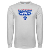 White Long Sleeve T Shirt-2018 Tournament Champions