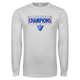 White Long Sleeve T Shirt-2018 Mens Basketball Tournament Champions
