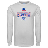 White Long Sleeve T Shirt-2018 Mens Sun Belt Champions