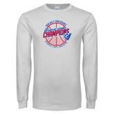 White Long Sleeve T Shirt-Sun Belt Mens Basketball Champions