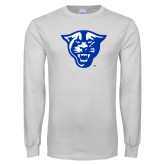 White Long Sleeve T Shirt-Panther Head