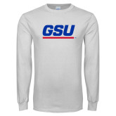 White Long Sleeve T Shirt-GSU