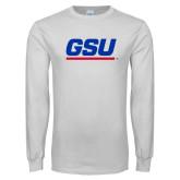 White Long Sleeve T Shirt-GSU