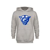 Youth Grey Fleece Hood-Panther Head