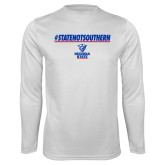Syntrel Performance White Longsleeve Shirt-#StateNotSouthern