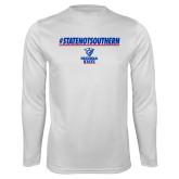 Performance White Longsleeve Shirt-#StateNotSouthern