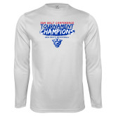 Performance White Longsleeve Shirt-2018 Tournament Champions