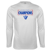 Performance White Longsleeve Shirt-2018 Mens Basketball Tournament Champions