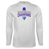Performance White Longsleeve Shirt-2018 Mens Sun Belt Champions