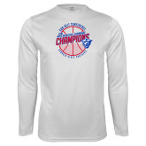 Performance White Longsleeve Shirt-Sun Belt Mens Basketball Champions