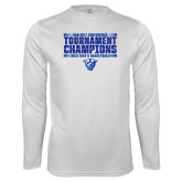 Performance White Longsleeve Shirt-Sun Belt Mens Tournament Champions