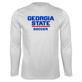Performance White Longsleeve Shirt-Soccer