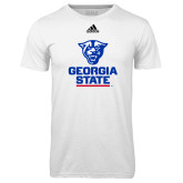 Adidas Climalite White Ultimate Performance Tee-Official Logo