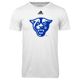 Adidas Climalite White Ultimate Performance Tee-Panther Head