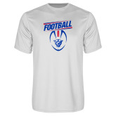 Performance White Tee-Panther Head w/ Football