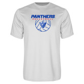 Performance White Tee-Panthers Volleyball w/ Ball