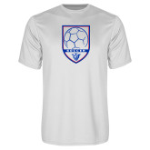 Performance White Tee-Soccer Shield w/ Panther Head