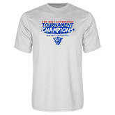 Performance White Tee-2018 Tournament Champions