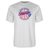 Performance White Tee-Sun Belt Mens Basketball Champions