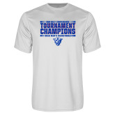 Performance White Tee-Sun Belt Mens Tournament Champions