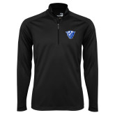 Syntrel Black Interlock 1/4 Zip-Panther Head