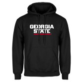 Black Fleece Hoodie-Georgia State Wordmark