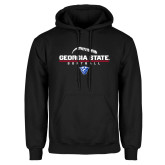 Black Fleece Hoodie-Georgia State Softball Stacked