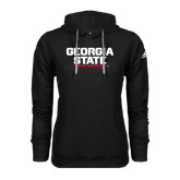 Adidas Climawarm Black Team Issue Hoodie-Georgia State Wordmark