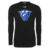 Under Armour Black Long Sleeve Tech Tee-Panther Head