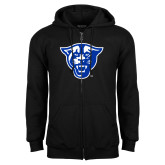 Black Fleece Full Zip Hoodie-Panther Head