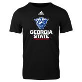 Adidas Black Logo T Shirt-Official Logo