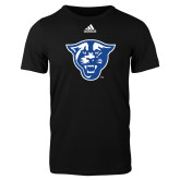 Adidas Black Logo T Shirt-Panther Head