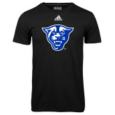 Adidas Climalite Black Ultimate Performance Tee-Panther Head