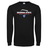 Black Long Sleeve TShirt-Georgia State Softball Stacked