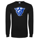 Black Long Sleeve TShirt-Panther Head