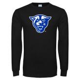 Black Long Sleeve TShirt-Panther Head