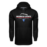 Under Armour Black Performance Sweats Team Hoodie-Georgia State Softball Stacked