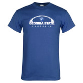 Royal T Shirt-Georgia State Football Flat