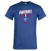 Royal T Shirt-Panther Head w/ Football