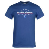Royal T Shirt-Georgia State Volleyball Stacked