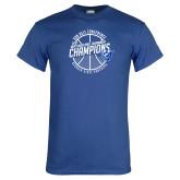 Royal T Shirt-Sun Belt Mens Basketball Champions