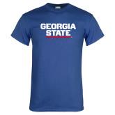 Royal Blue T Shirt-Georgia State Wordmark