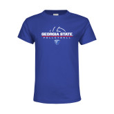 Youth Royal T Shirt-Georgia State Volleyball Stacked