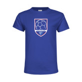 Youth Royal T Shirt-Soccer Shield w/ Panther Head
