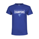 Youth Royal T Shirt-2018 Mens Basketball Tournament Champions