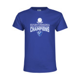 Youth Royal T Shirt-2018 Mens Sun Belt Champions