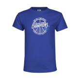 Youth Royal T Shirt-Sun Belt Mens Basketball Champions