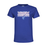 Youth Royal T Shirt-Sun Belt Mens Tournament Champions