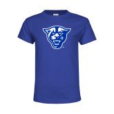 Youth Royal T Shirt-Panther Head